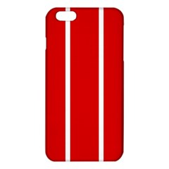 White And Red Stripes Iphone 6 Plus/6s Plus Tpu Case by timelessartoncanvas
