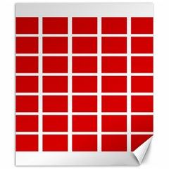 Red Cubes Stripes Canvas 20  X 24   by timelessartoncanvas