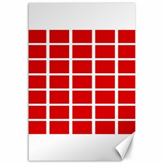 Red Cubes Stripes Canvas 20  X 30   by timelessartoncanvas