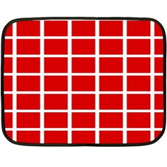 Red Cubes Stripes Double Sided Fleece Blanket (mini)  by timelessartoncanvas