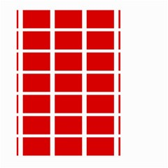Red Cubes Stripes Large Garden Flag (two Sides) by timelessartoncanvas