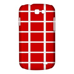 Red Cubes stripes Samsung Galaxy Express I8730 Hardshell Case  by timelessartoncanvas