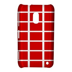 Red Cubes Stripes Nokia Lumia 620 by timelessartoncanvas