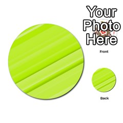 Bright Green Stripes Multi Purpose Cards (round)  by timelessartoncanvas