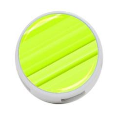 Bright Green Stripes 4 Port Usb Hub (one Side) by timelessartoncanvas
