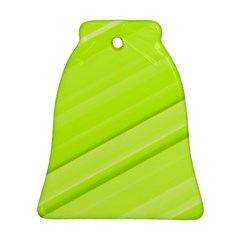 Bright Green Stripes Ornament (bell)  by timelessartoncanvas
