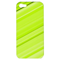 Bright Green Stripes Apple Iphone 5 Hardshell Case by timelessartoncanvas