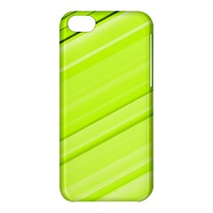 Bright Green Stripes Apple Iphone 5c Hardshell Case by timelessartoncanvas
