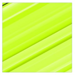 Bright Green Stripes Large Satin Scarf (square) by timelessartoncanvas