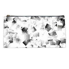 Gray And Silver Cubes Abstract Pencil Cases by timelessartoncanvas