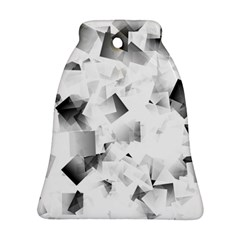 Gray And Silver Cubes Abstract Ornament (bell)  by timelessartoncanvas
