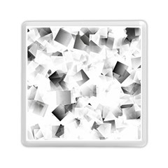 Gray And Silver Cubes Abstract Memory Card Reader (square)  by timelessartoncanvas