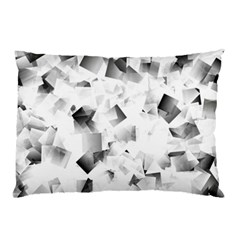 Gray And Silver Cubes Abstract Pillow Cases (two Sides) by timelessartoncanvas