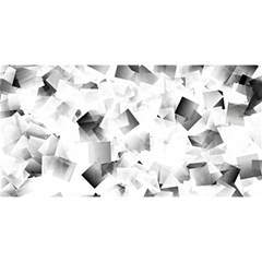 Gray And Silver Cubes Abstract You Are Invited 3d Greeting Card (8x4)  by timelessartoncanvas