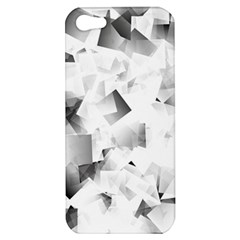 Gray And Silver Cubes Abstract Apple Iphone 5 Hardshell Case by timelessartoncanvas