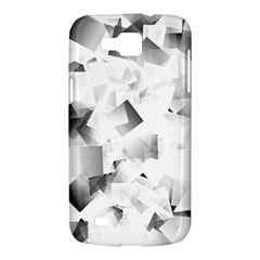 Gray and Silver Cubes Abstract Samsung Galaxy Premier I9260 Hardshell Case by timelessartoncanvas