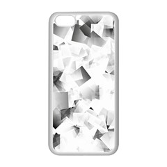 Gray And Silver Cubes Abstract Apple Iphone 5c Seamless Case (white) by timelessartoncanvas