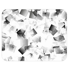 Gray And Silver Cubes Abstract Double Sided Flano Blanket (medium)  by timelessartoncanvas
