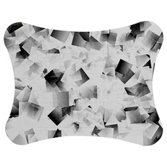 Gray And Silver Cubes Abstract Jigsaw Puzzle Photo Stand (bow) by timelessartoncanvas