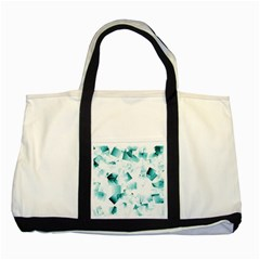 Modern Teal Cubes Two Tone Tote Bag by timelessartoncanvas