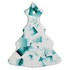 Modern Teal Cubes Ornament (christmas Tree) by timelessartoncanvas