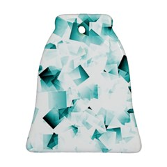Modern Teal Cubes Bell Ornament (2 Sides) by timelessartoncanvas