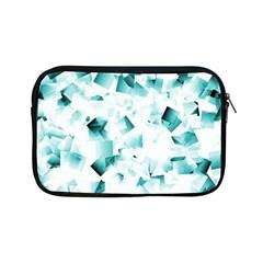 Modern Teal Cubes Apple Ipad Mini Zipper Cases by timelessartoncanvas
