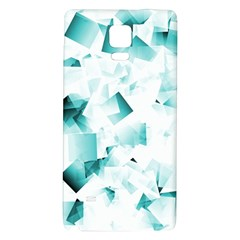 Modern Teal Cubes Galaxy Note 4 Back Case by timelessartoncanvas
