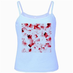 Modern Red Cubes Baby Blue Spaghetti Tanks by timelessartoncanvas