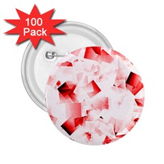 Modern Red Cubes 2 25  Buttons (100 Pack)  by timelessartoncanvas