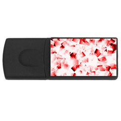 Modern Red Cubes Usb Flash Drive Rectangular (4 Gb)  by timelessartoncanvas
