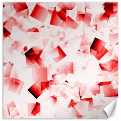 Modern Red Cubes Canvas 12  X 12   by timelessartoncanvas