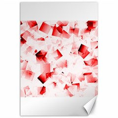 Modern Red Cubes Canvas 12  X 18   by timelessartoncanvas
