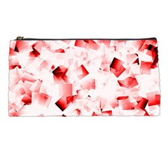 Modern Red Cubes Pencil Cases by timelessartoncanvas