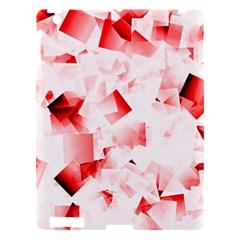 Modern Red Cubes Apple Ipad 3/4 Hardshell Case by timelessartoncanvas