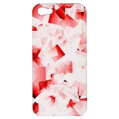 Modern Red Cubes Apple Iphone 5 Hardshell Case by timelessartoncanvas