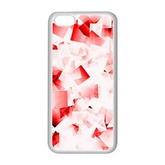 Modern Red Cubes Apple Iphone 5c Seamless Case (white) by timelessartoncanvas