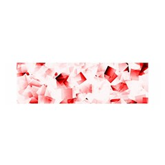 Modern Red Cubes Satin Scarf (oblong) by timelessartoncanvas