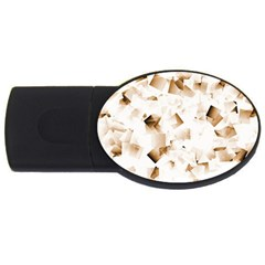 Modern Brown Cubes Usb Flash Drive Oval (2 Gb)  by timelessartoncanvas