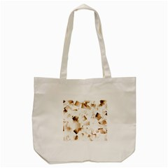 Modern Brown Cubes Tote Bag (cream) by timelessartoncanvas