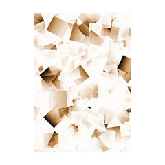 Modern Brown Cubes Shower Curtain 48  X 72  (small)  by timelessartoncanvas