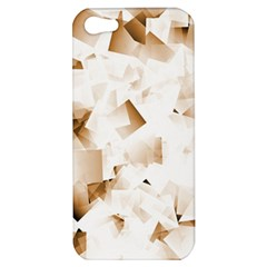 Modern Brown Cubes Apple Iphone 5 Hardshell Case by timelessartoncanvas
