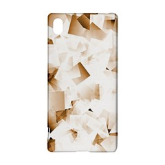 Modern Brown Cubes Sony Xperia Z3+ by timelessartoncanvas