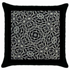 Polygons Pattern Print Throw Pillow Cases (black) by dflcprints