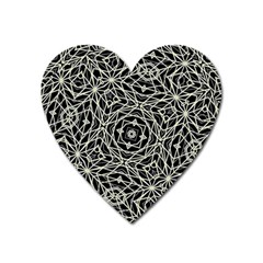 Polygons Pattern Print Heart Magnet by dflcprints