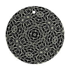 Polygons Pattern Print Round Ornament (two Sides)  by dflcprints