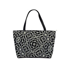 Polygons Pattern Print Shoulder Handbags by dflcprints