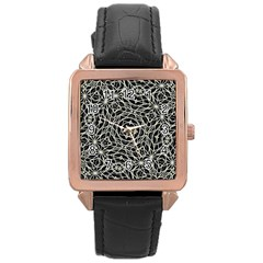 Polygons Pattern Print Rose Gold Watches by dflcprints
