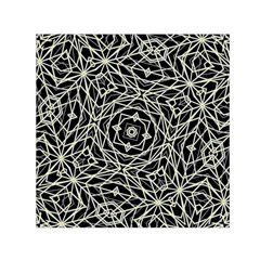 Polygons Pattern Print Small Satin Scarf (square)