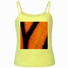 Butterfly Design 4 Yellow Spaghetti Tanks by timelessartoncanvas
